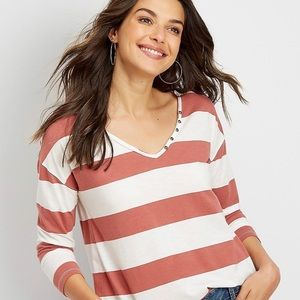COPY - Maurices - Red and White Top